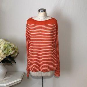 Vince Linen Long Sleeve Pullover Sweater Shirt